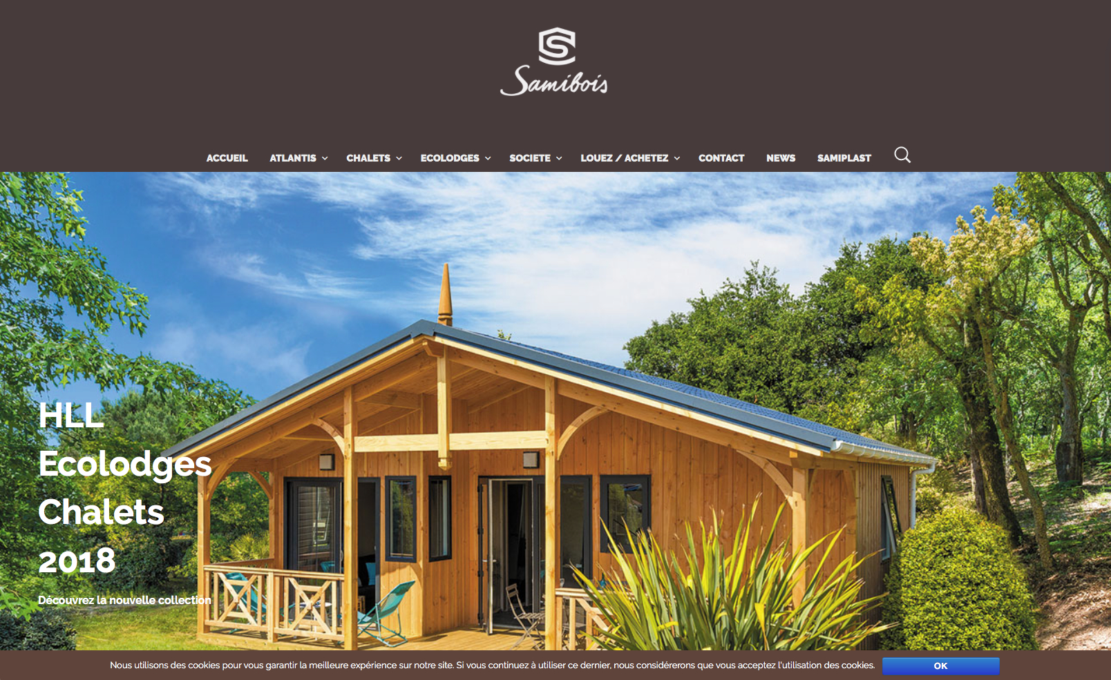 Chalet Bois Samibois - Châlet, Maison Et Cabane pour River Han Mobilier De Jardin