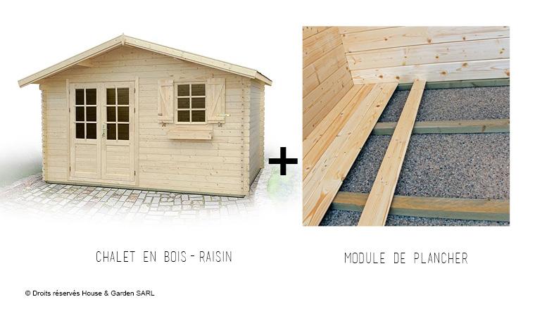 Chalet De Jardin En Bois Naturel Brut 12 M Carré- Raisin 12 dedans Chalet De Jardin 12M2