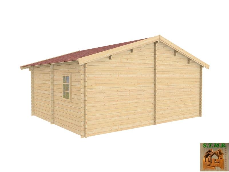 Chalet En Bois En Kit Modèle Genevier 30 M2 Direct Usine intérieur Abri De Jardin 30M2