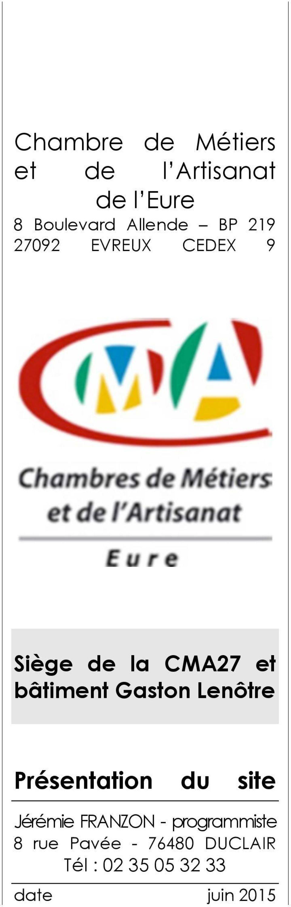 Chambre De Métiers Et De L Artisanat De L Eure 8 Boulevard tout Chambre Des Metiers De L Eure