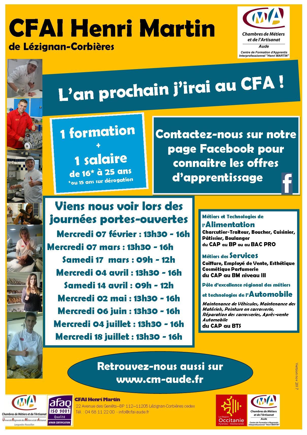 Chambre Des Métiers Et De L'Artisanat De L'Aude à Stage Chambre Des Métiers