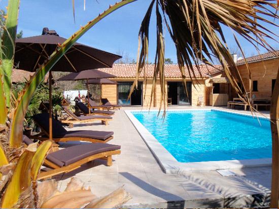 Chambres D'Hôtes Lacanau Surf Camp Avec Piscine Les Bois destiné Chambre D Hote Biscarrosse Plage