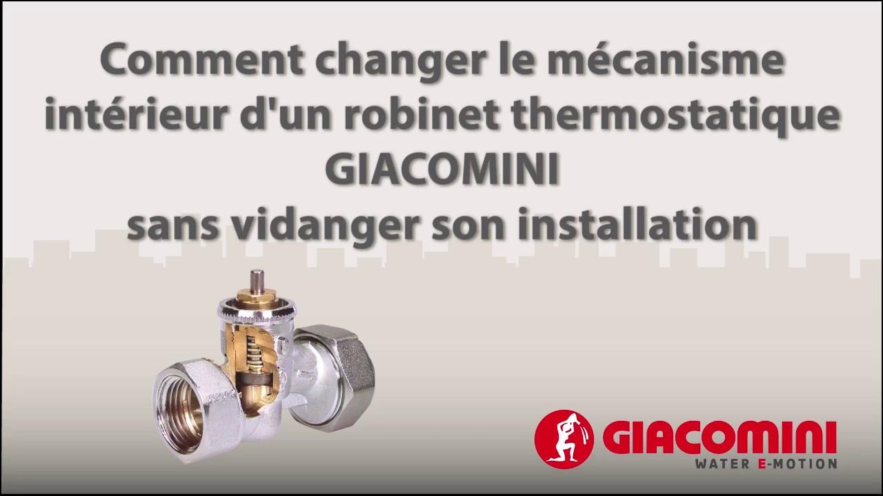 Changer Le Mécanisme Intérieur D'un Robinet Thermostatisable Giacomini intérieur Changer Robinet Thermostatique Sans Vidanger