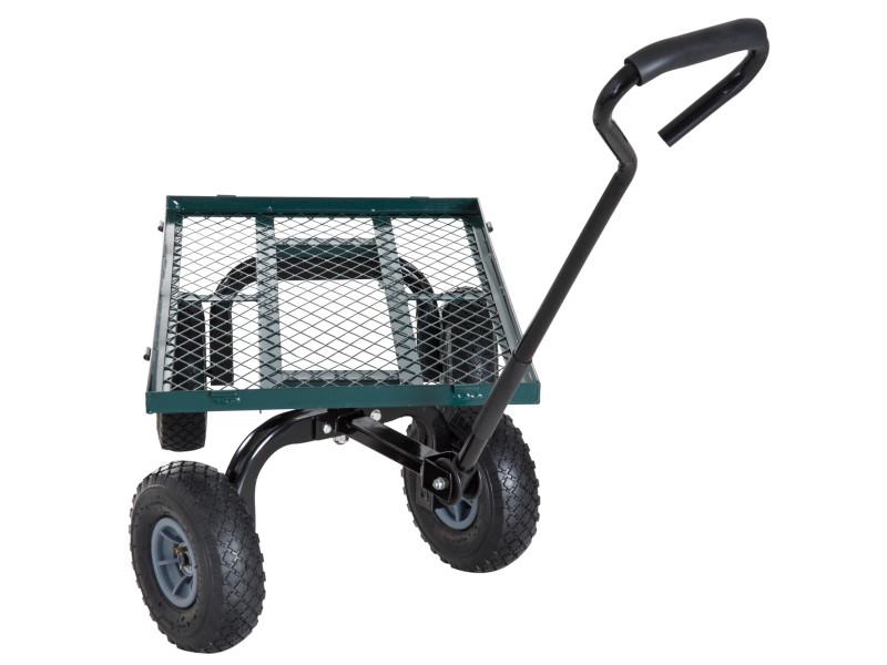 Chariot De Transport Jardin Remorque À Main Charrette À intérieur Charrette De Jardin
