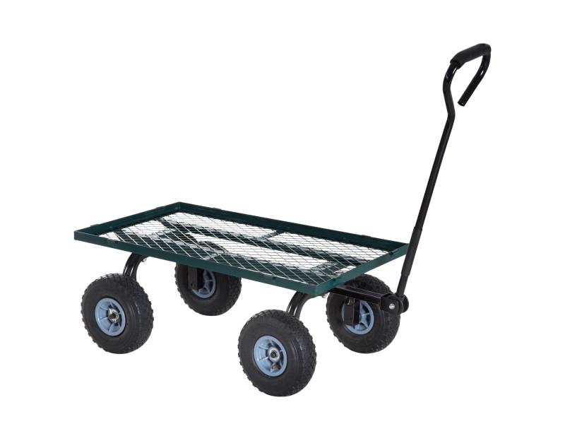 Chariot De Transport Jardin Remorque À Main Charrette À serapportantà Charrette De Jardin