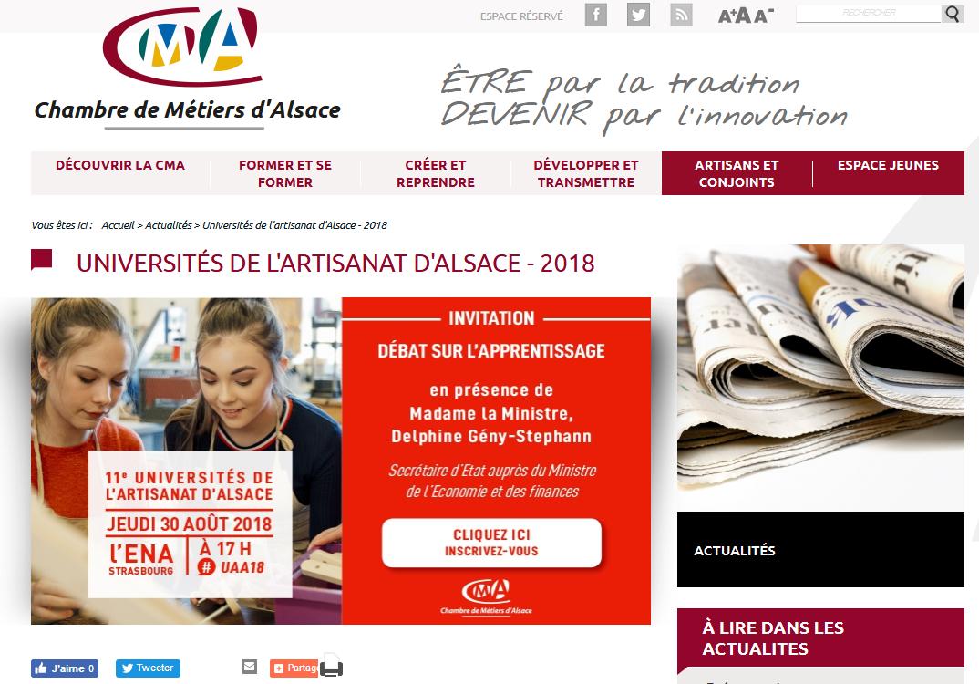 Choisir Son Avenir Professionnel | Histoires D'universités pour Chambre Des Métiers D Alsace