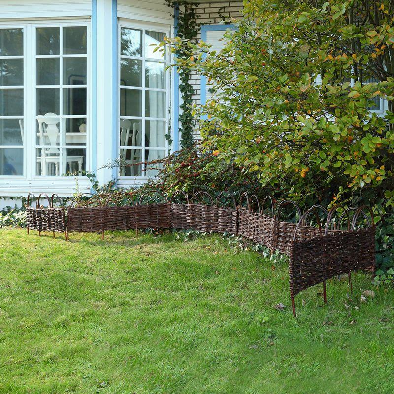 Clôture De Jardin Bordure De Jardin Clôture En Bois encequiconcerne Delimitation Jardin