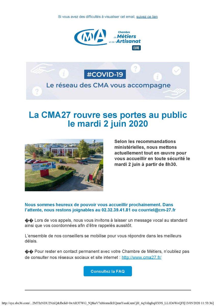 Cma De L'eure (@artisanat27) | Twitter tout Chambre Des Metiers De L Eure