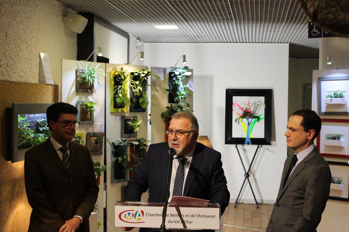 """Cma Val D'oise On Twitter: """"inauguration Du Salon D encequiconcerne Chambre Des Metiers Cergy"""