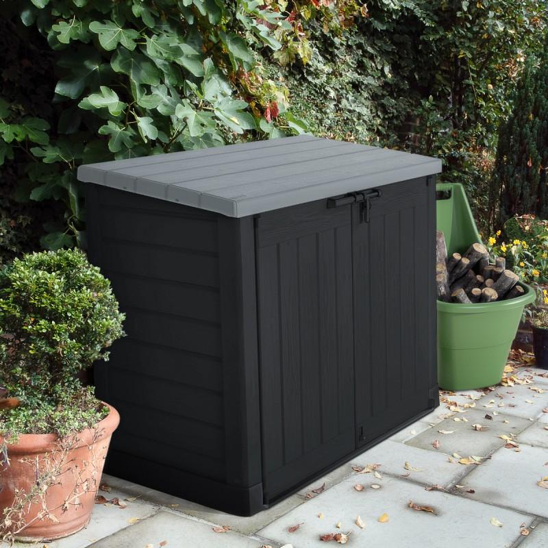 Coffre De Jardin Multifonctions En Résine 1200L Toit Plat concernant Abri De Jardin En Résine Keter
