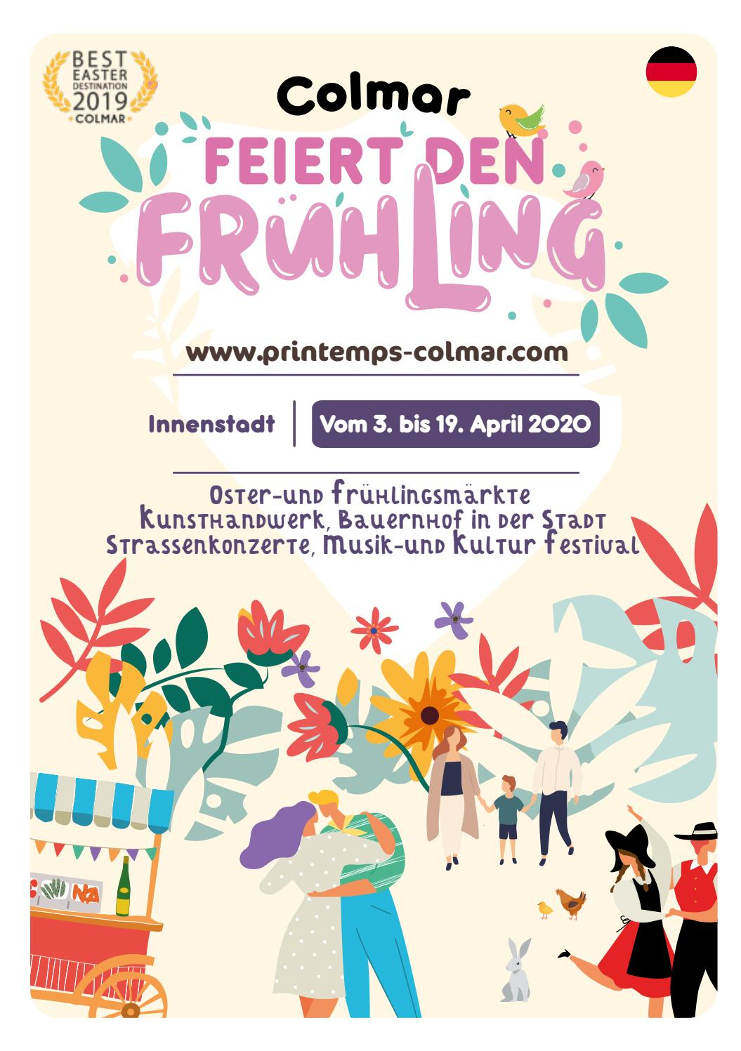 Colmar Feiret Den Frühling Und Musik-Und Kultur Festival pour Chambre Des Métiers Colmar