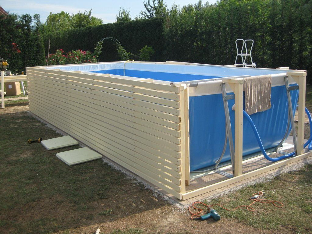 Come Rivestire Una Piscina Fuori Terra Fai Da Te Con concernant Kit Habillage Piscine Intex