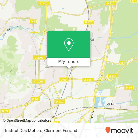 Comment Aller À Institut Des Métiers À Clermont-Ferrand En à Chambre Des Metiers Clermont Ferrand