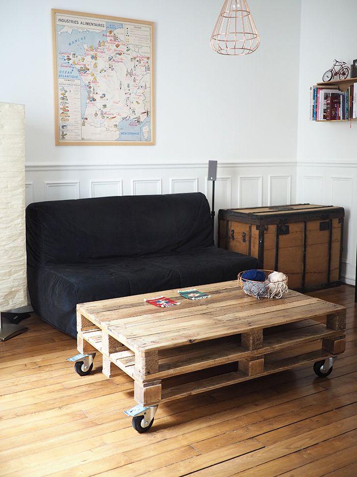 Comment Faire Une Table Basse Avec Des Palettes | Faire concernant Fabriquer Une Coiffeuse En Palette