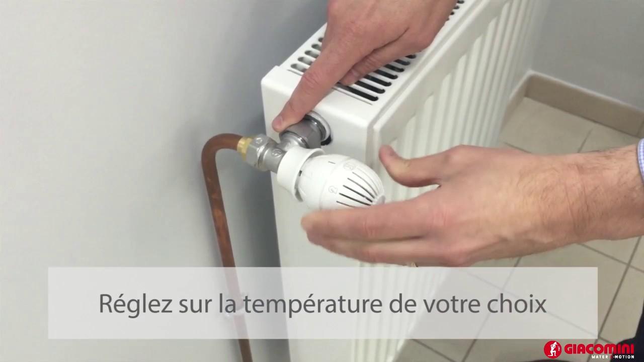 Comment Installer Une Tête Thermostatique Giacomini tout Changer Robinet Thermostatique Sans Vidanger
