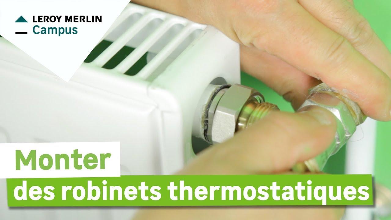 Comment Monter Des Robinets Thermostatiques ? Leroy Merlin à Changer Robinet Thermostatique Sans Vidanger