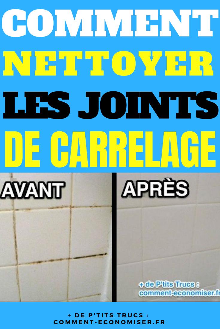 Comment Nettoyer Les Joints De Carrelage Avec Un Nettoyant à Comment Nettoyer Des Joints De Salle De Bain