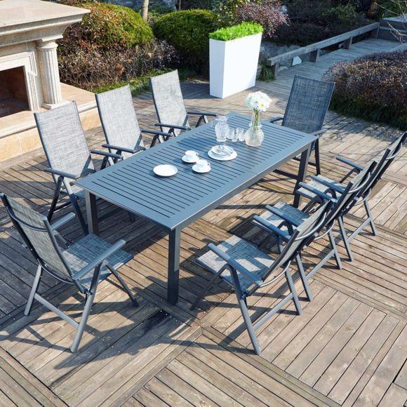Concept Usine - Berana 8 : Table De Jardin Extensible 10 à Table De Jardin 10 Personnes