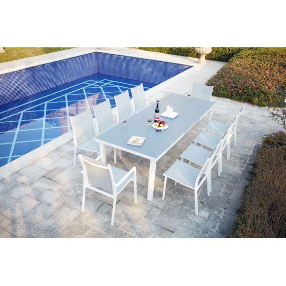 Concept Usine - Moniga 10 : Table De Jardin Extensible 10 à Table De Jardin 10 Personnes