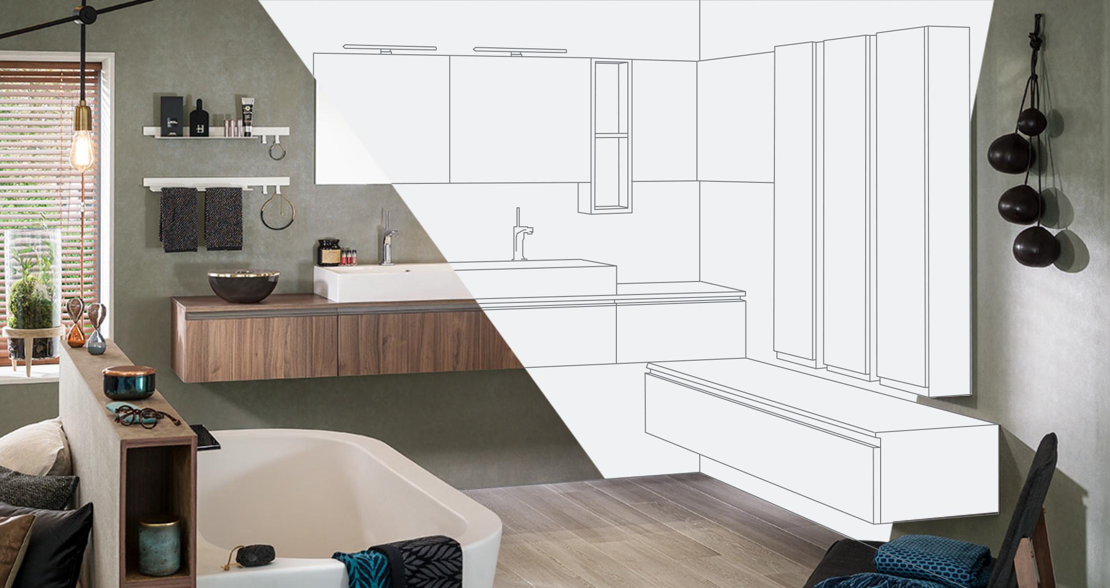 Configurateur 3D : Concevoir Sa Salle De Bain En Ligne avec Créer Sa Salle De Bain