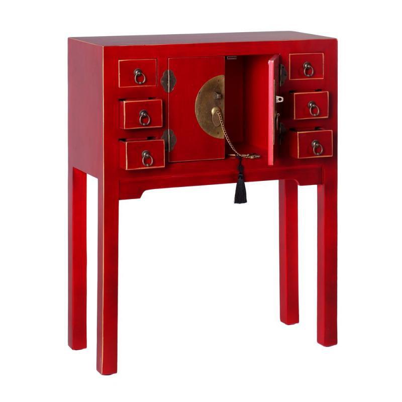 Console Rouge Meuble Chinois Pekin - Univers Des Petits avec Petit Meuble Chinois