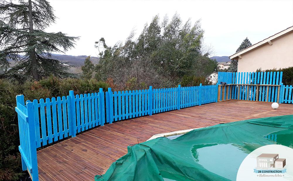 Construction D'Une Terrasse Autour D'Une Piscine Sur Un tout Amenagement Piscine Terrain En Pente