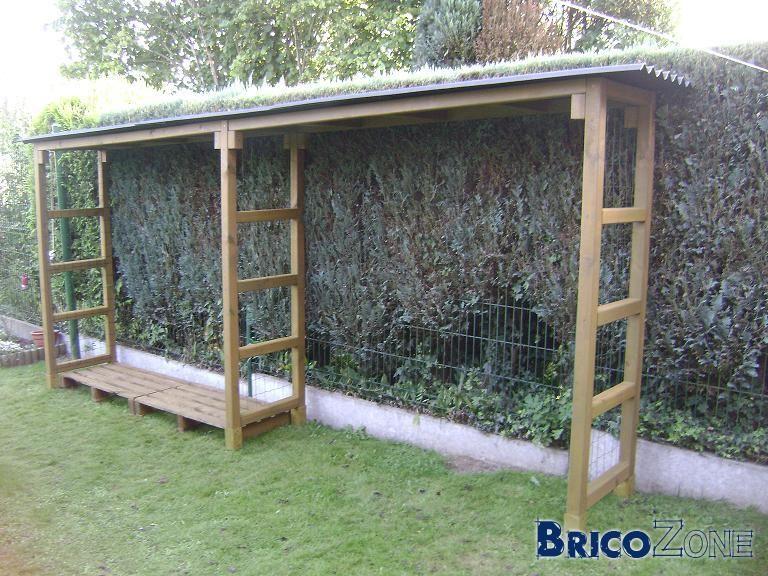 Construire Un Abris À Bois De Chauffage   Abri Bois, Bois à Construire Un Abris De Jardin