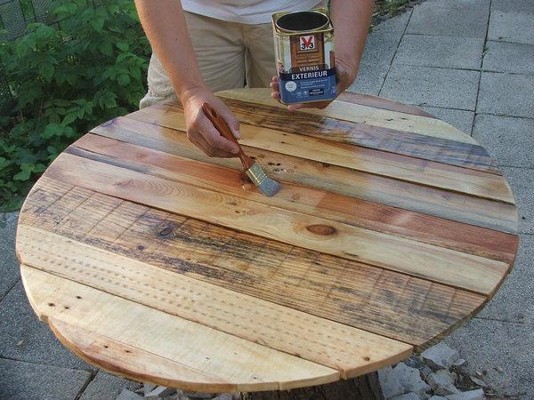 Construire Une Table De Jardin En Bois De Palette Sur intérieur Fabriquer Sa Table De Jardin