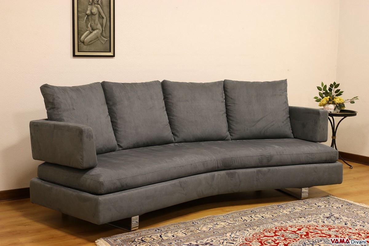 Contemporary Half-Round Fabric Sofa With Removable Cover encequiconcerne Sofa