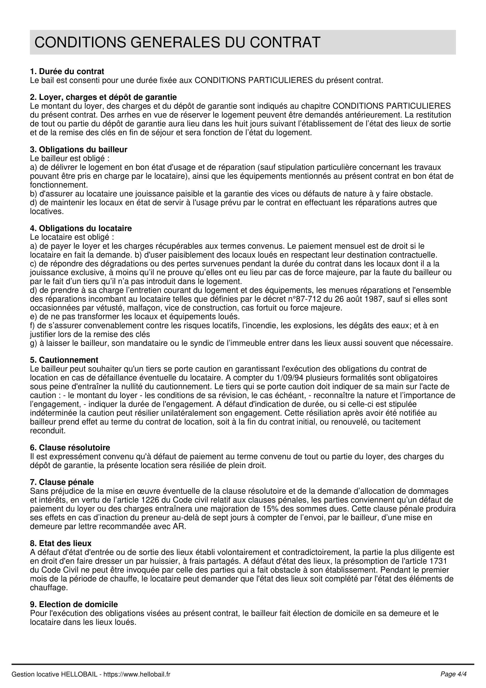 Contrat De Location Saisonnière : Modèle Et Réglementation à Contrat De Location Meublée