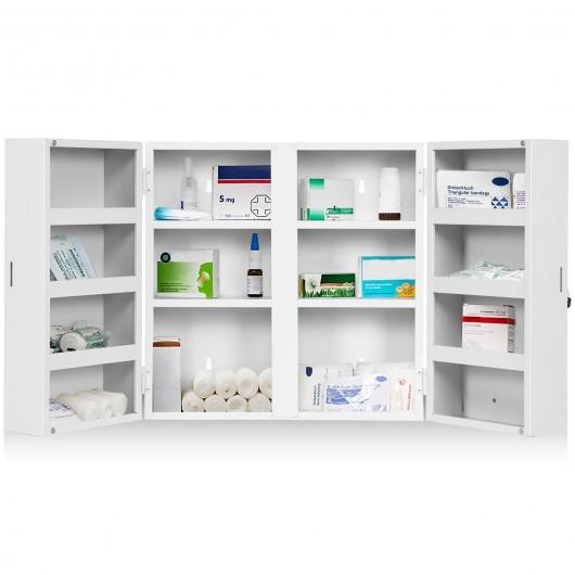 Costway Armoire À Pharmacie 2 Portes Avec Clés 14 Etagères avec Meuble A Pharmacie
