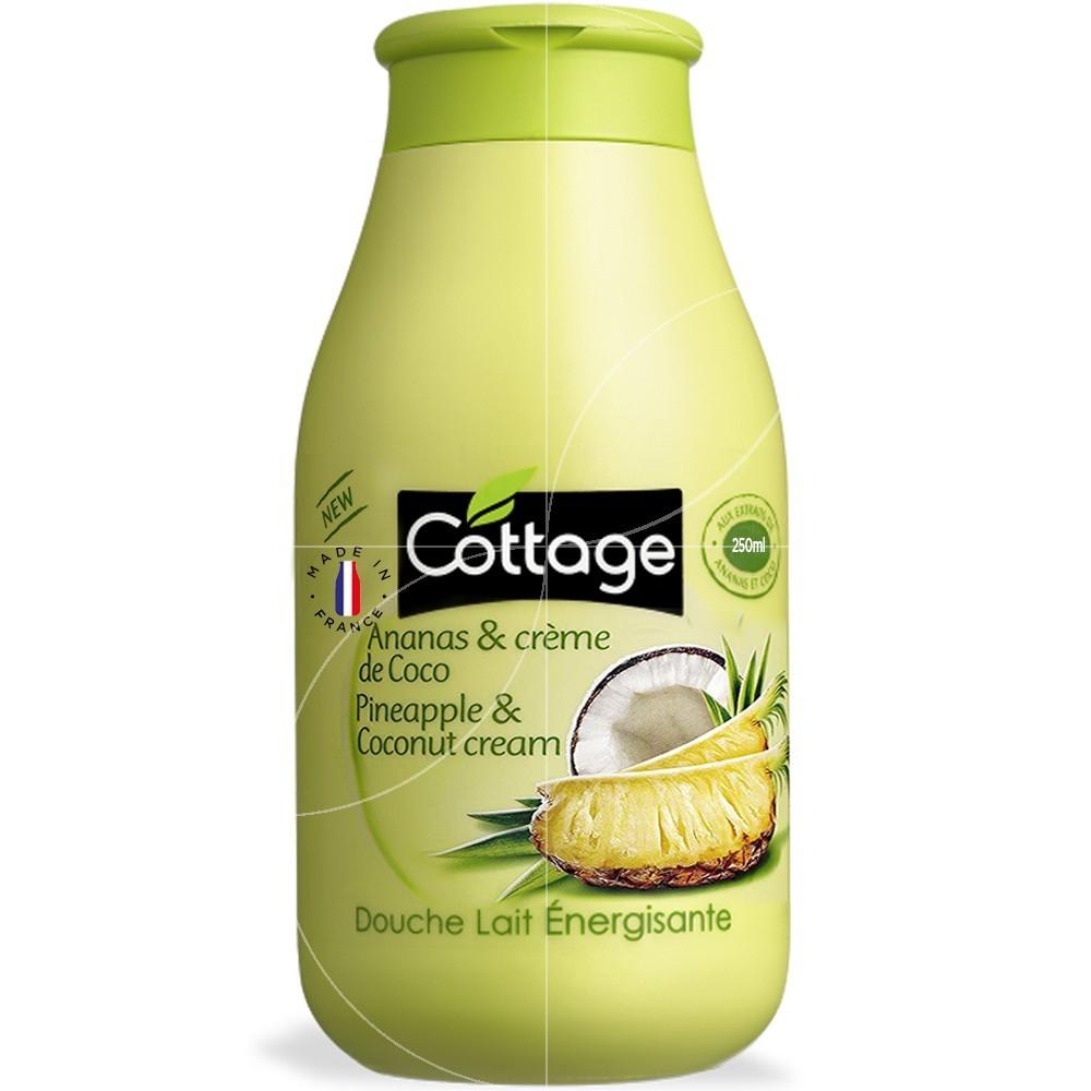 Cottage - Douche Lait Energisante - Ananas & Crème De Coco - 250Ml encequiconcerne Gel Douche Cottage Prix
