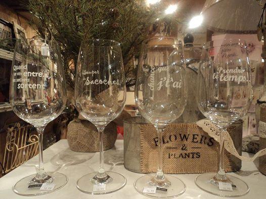 Coupe De Vin Avec Citation, Idée Cadeau, Coupe, Citation tout Idée Cadeau Jardin