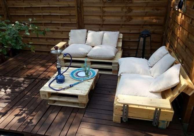 Coussin Salon De Jardin En Palette Fabriquer Un Salon De concernant Matelas Palette Gifi