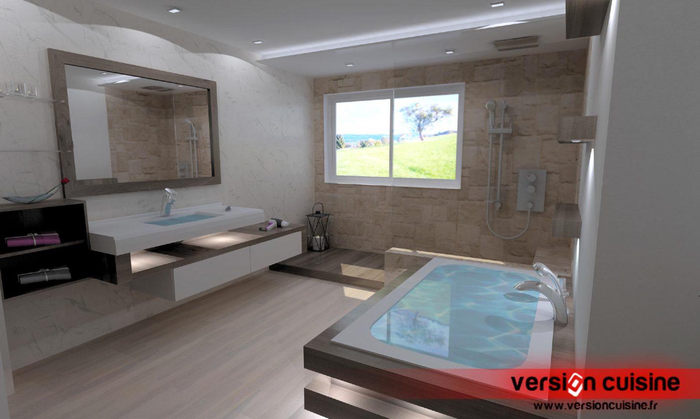 Création D'une Salle De Bain Avec Espace Douche Et Vasques encequiconcerne Créer Sa Salle De Bain