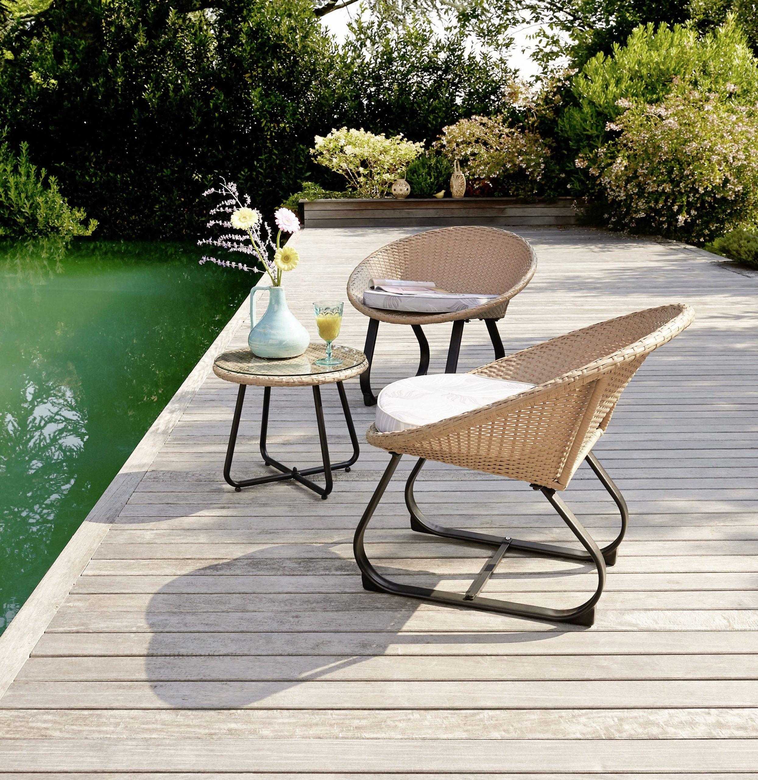 Créez Un Espace Détente Et Cosy Avec Notre Set De 3 Pièces pour Intermarché Table De Jardin