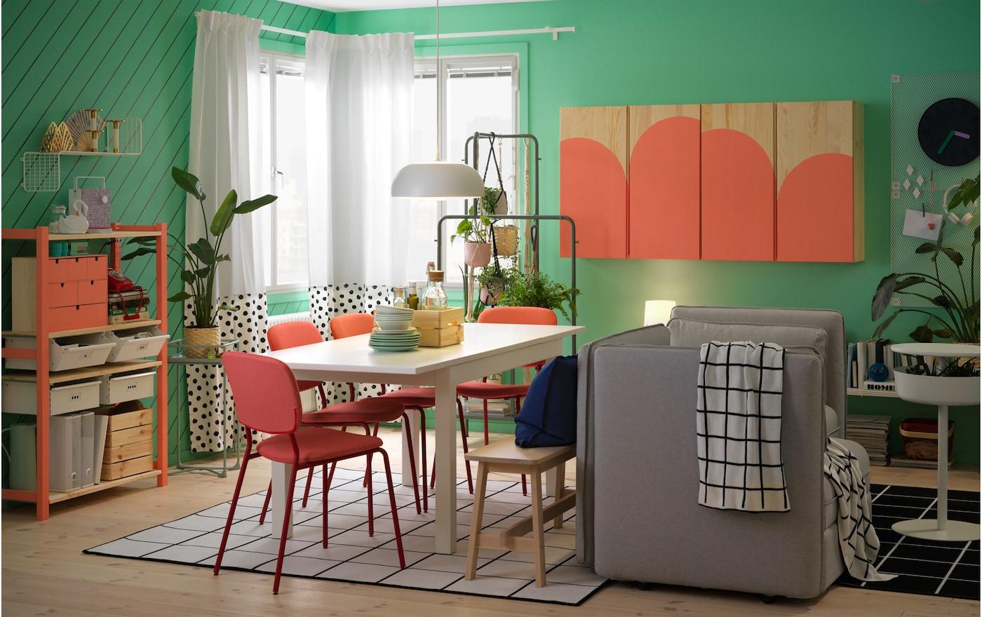 Déco Salle À Manger : Notre Galerie De Photos - Ikea destiné Table Salle A Manger Pliante Ikea