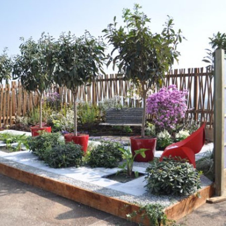 Decoration Jardin Rouge tout Idee Deco Exterieur