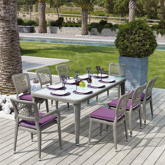 Destockage Table De Jardin Diamant 210X100 Roland pour Salon De Jardin Destockage