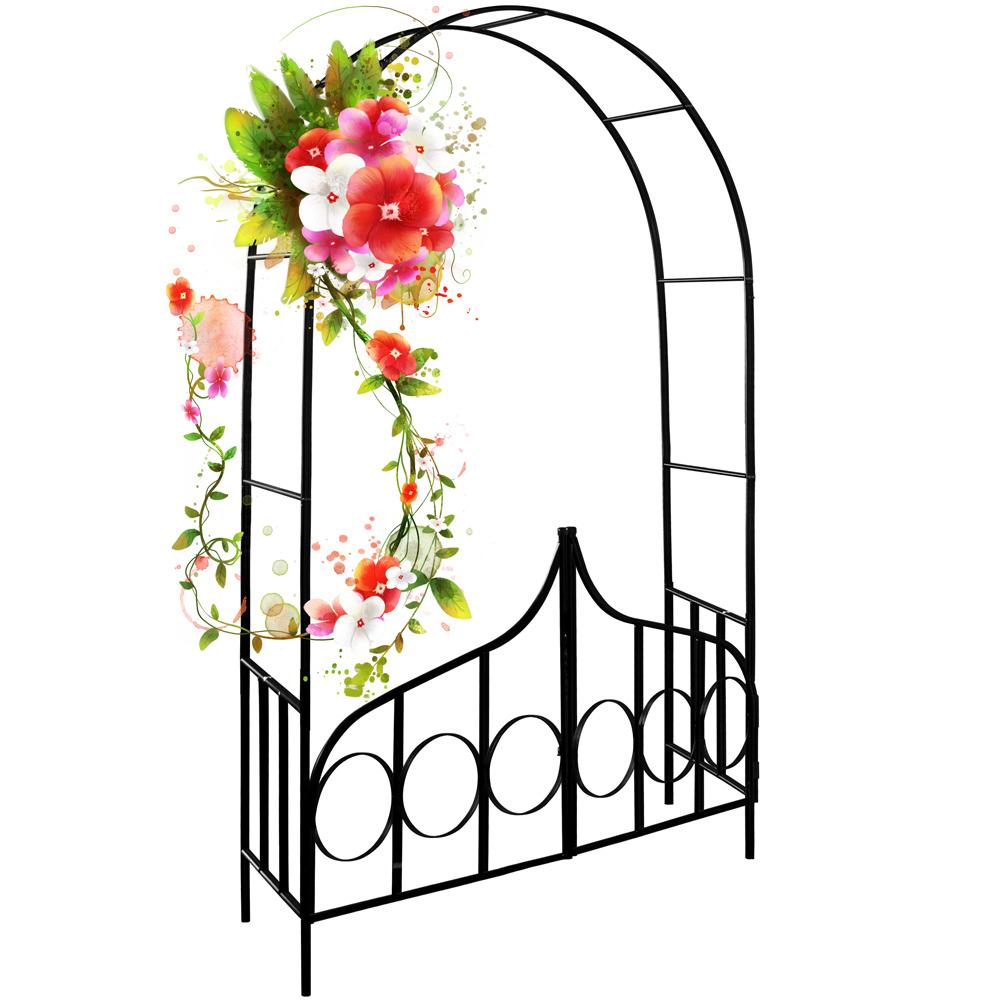 Détails Sur Arceau De Rosier - Arcade Rose Lierre Jardin à Arceau Jardin