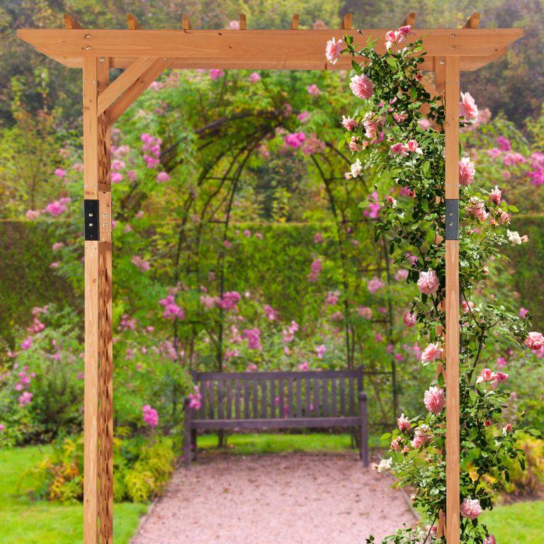 Détails Sur Arche De Rosiers En Bois Xxl Pergola Jardin encequiconcerne Arche De Jardin En Bois