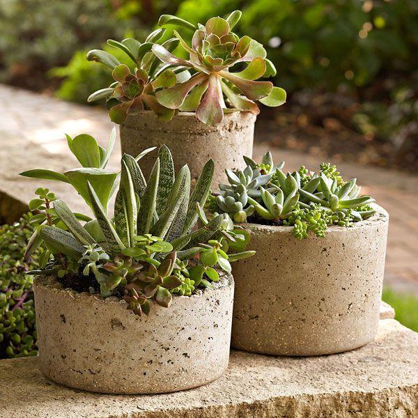 Diy Hypertufa Pots: Made From A Mixture Of Portland Cement encequiconcerne Vermiculite Jardin