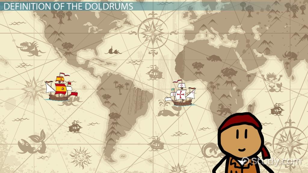 Doldrums: Definition & Location - Video & Lesson à Location Sci
