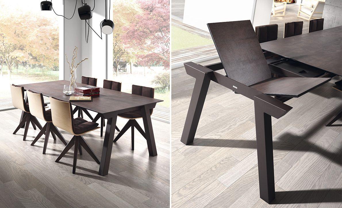 Dressy By Mobliberica - Table Duero Extensible | Table Salle pour Table Salle A Manger Plateau Ceramique