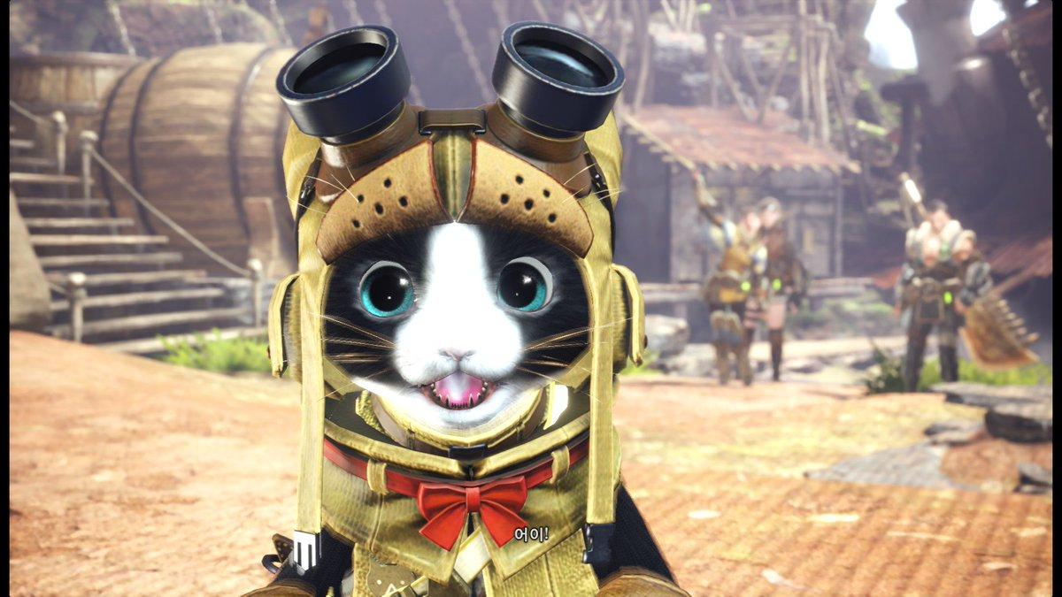 처음으로 몬스터헌터 월드를 사서 해 봤는데 내 고양이가 너무 귀여워서 참을 수 Tweet Added By pour Twaku