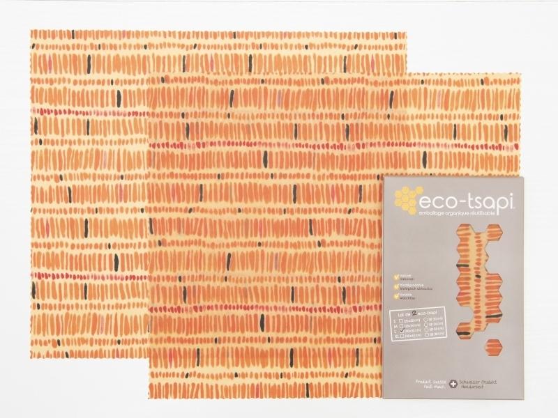 Emballage À La Cire D'Abeille Large 30X35 Cm (2 Pièces intérieur Patiner Un Meuble À La Cire D'Abeille