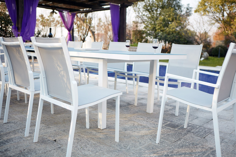 Ensemble Table De Jardin Extensible En Aluminium Moniga 12 intérieur Table De Jardin Aluminium Jardiland