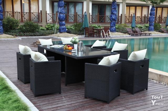 Ensemble Table Et Fauteuil De Jardin En Résine Tressée avec Table Et Chaise De Jardin En Resine