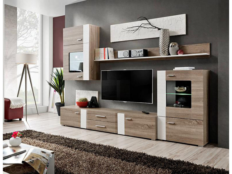 Ensemble Tv Aleppo Fashion 4 Meubles Scandinave - Vente De avec Meuble Tele Conforama