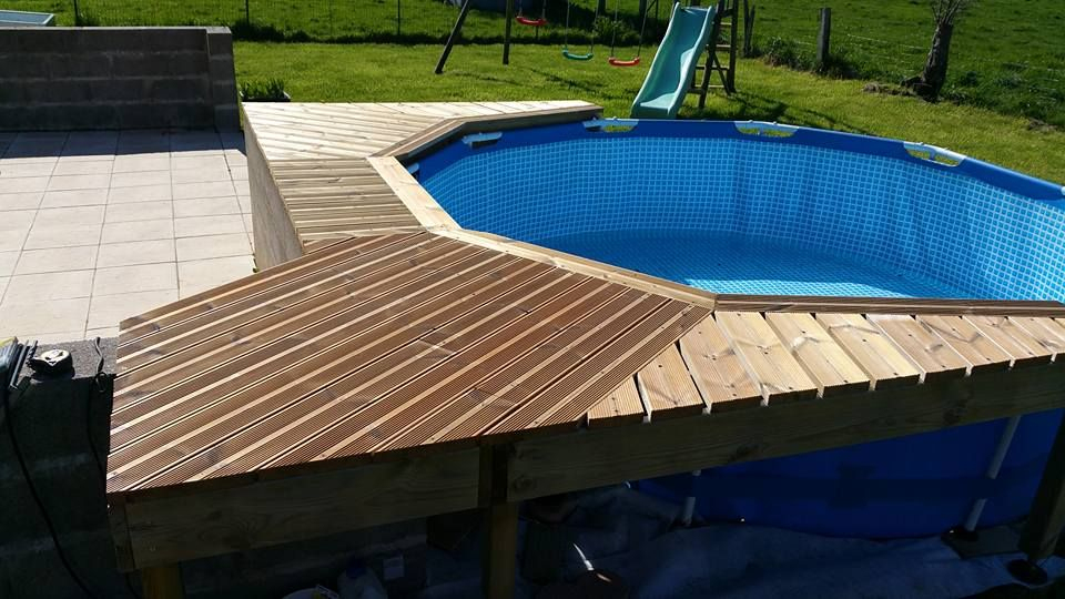 Épinglé Par Christy Register Sur Pool | Piscine, Habillage tout Kit Habillage Piscine Intex